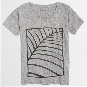 J. Crew collection tee abstract leaf
